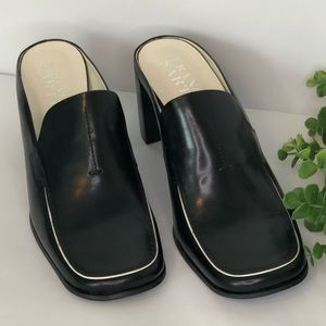 Franco Sarto Black Leather Mules (10)